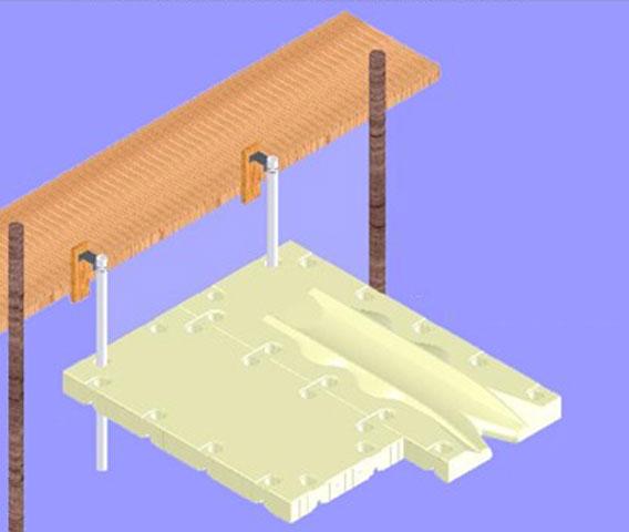 SportPort Highwater Dock Installation Diagram