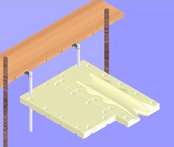 SportPort Fixed Dock or Seawall Installation Diagram